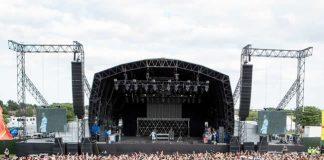 Sundown festival stage