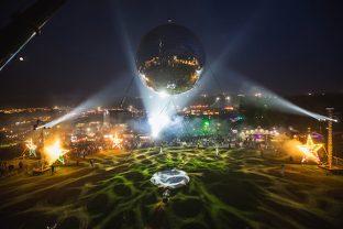 Bestival giant disco ball