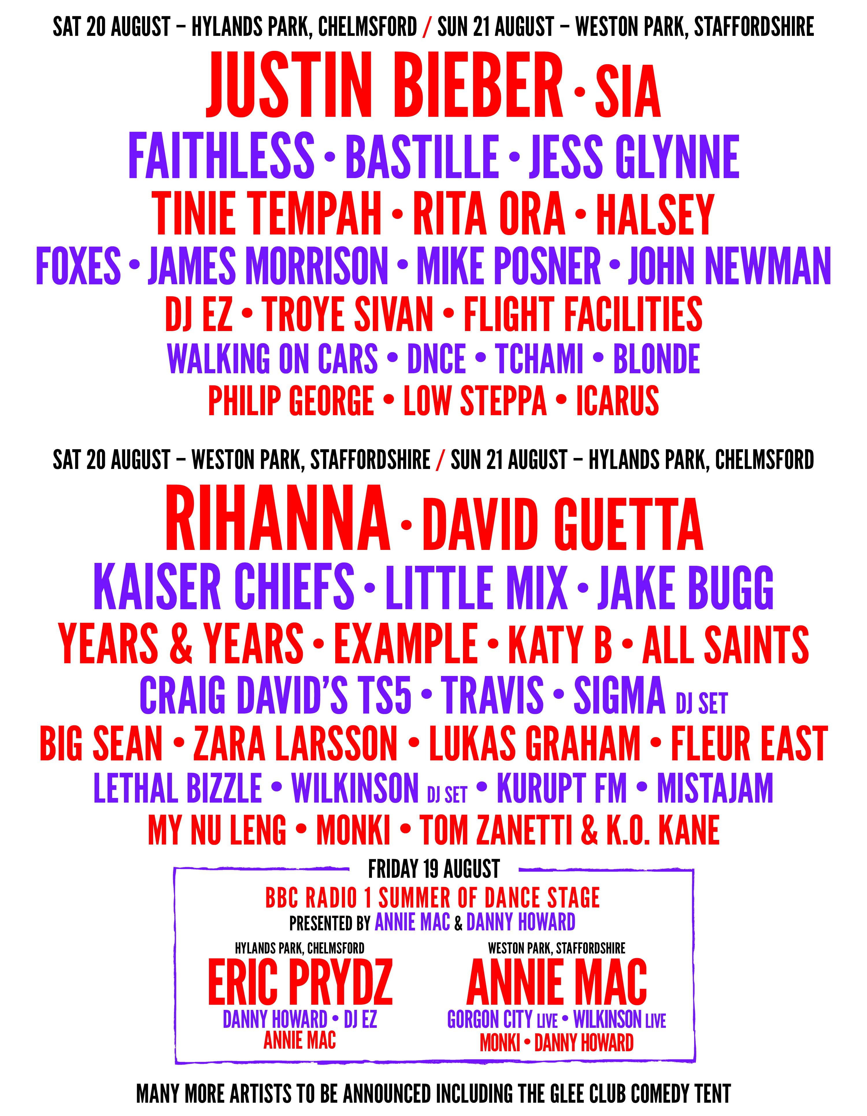 V Festival Chelmsford poster