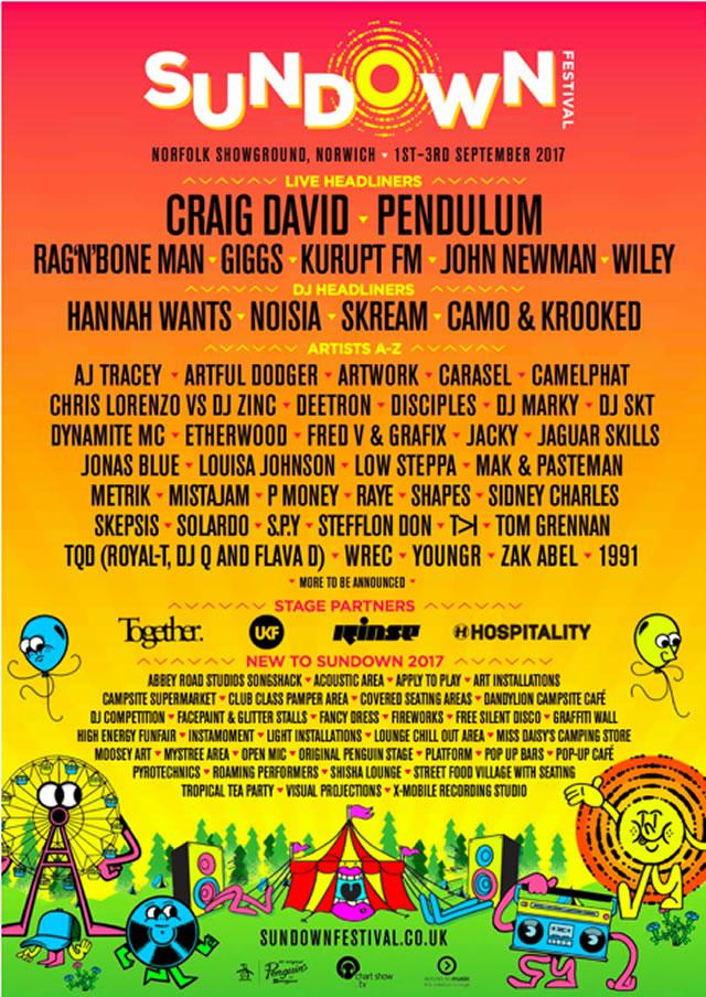 Sundown 2017 lineup poster