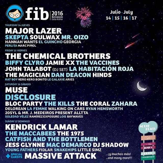 Festival Internacional De Benicassim poster