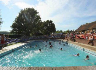 Standon Calling's swimming pool