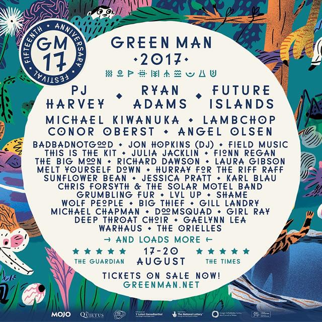 Green Man Festival 2017 lineup poster