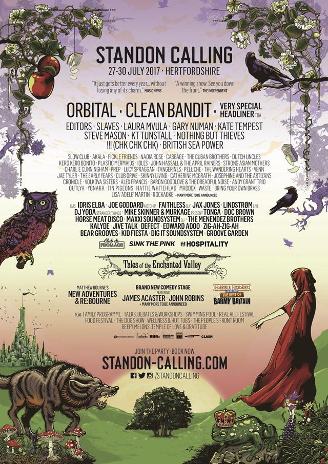 Standon Calling 2017 lineup poster