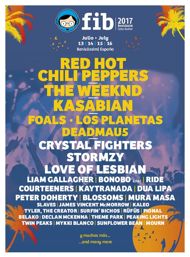 Benicassim 2017 lineup poster