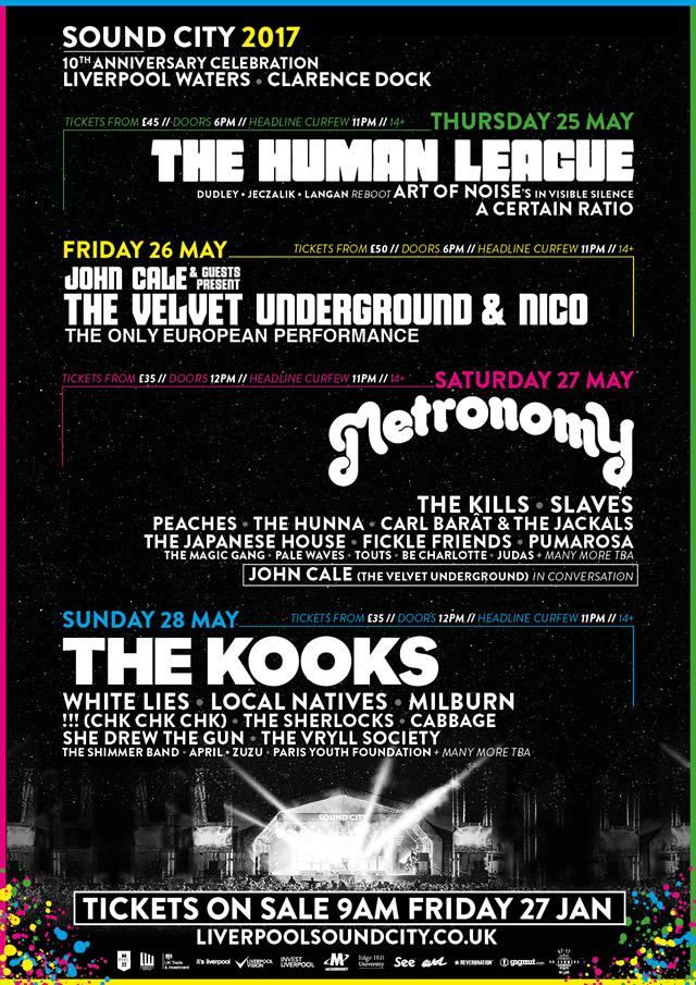 Sound City 2017 lineup poster