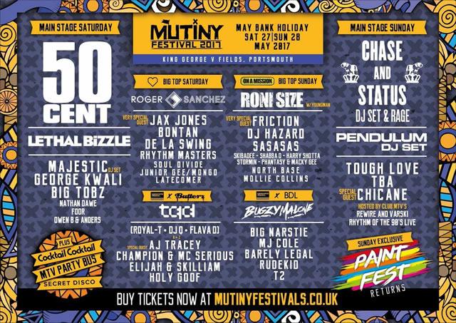 Mutiny 2017 line-up