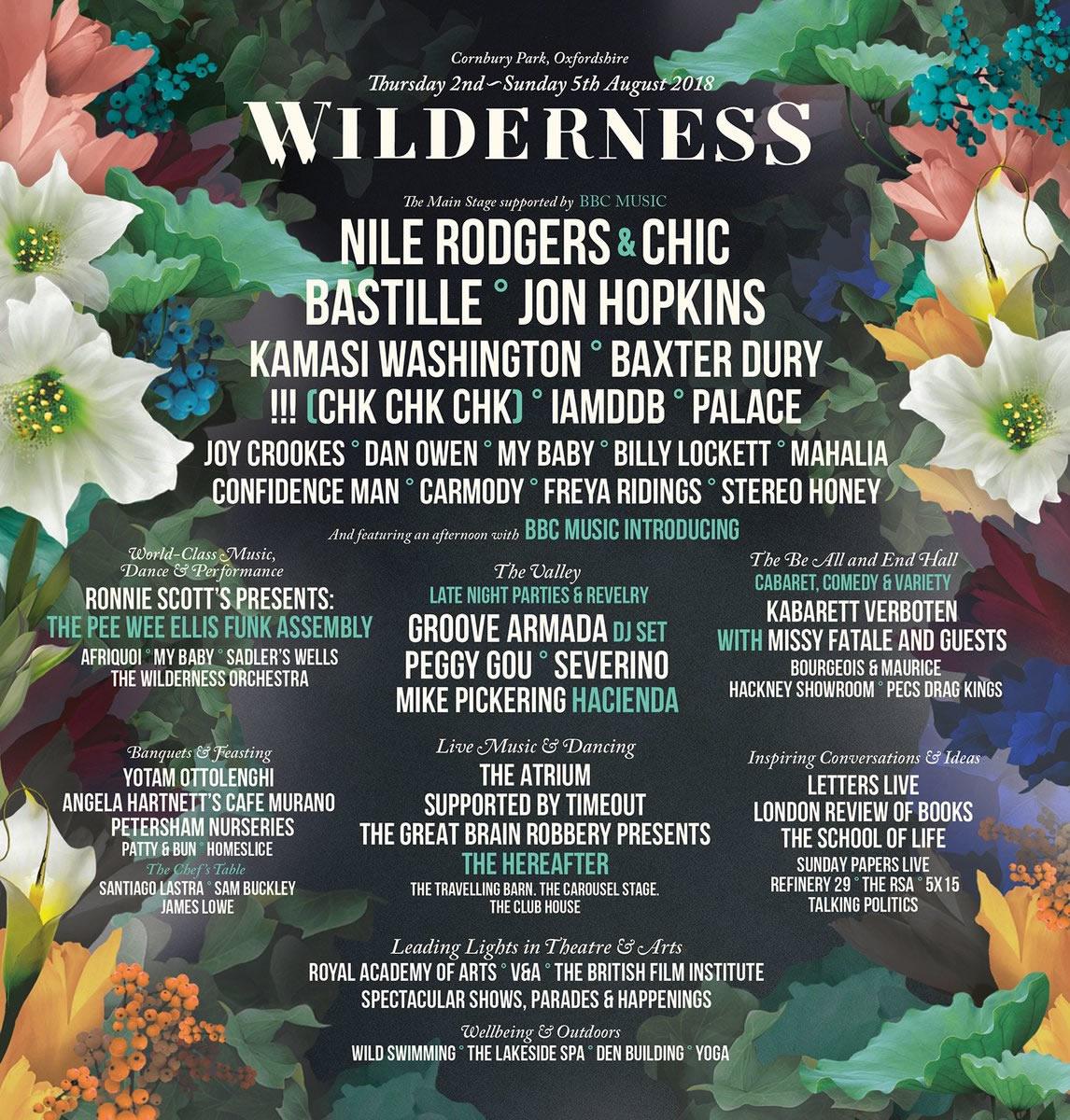 Wilderness lineup poster