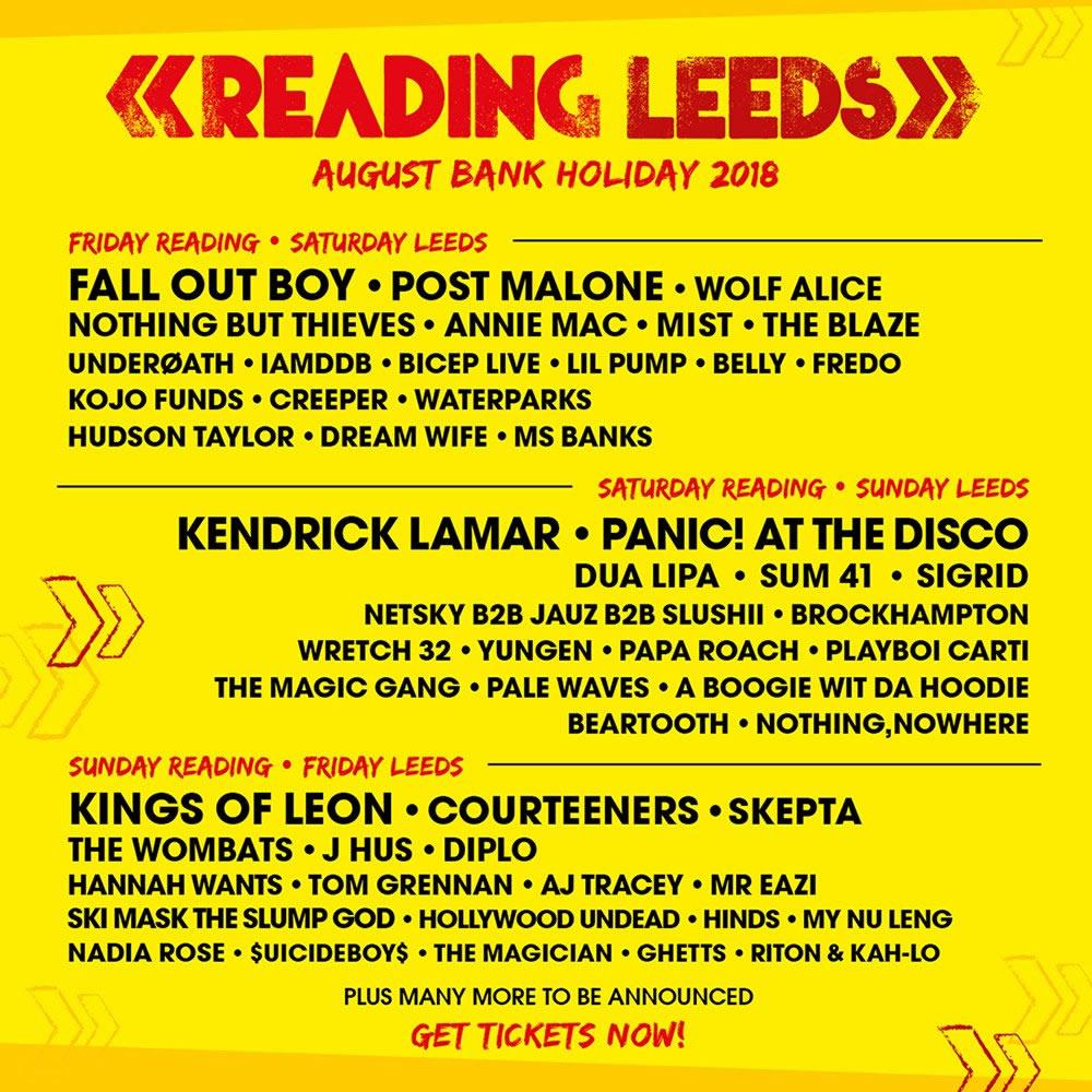 Leeds Festival lineup poster