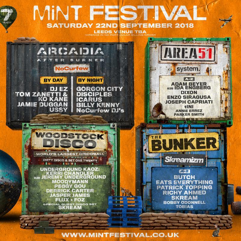 Mint Festival 2018 lineup poster