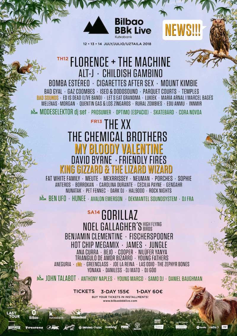 Bilbao 2018 lineup poster