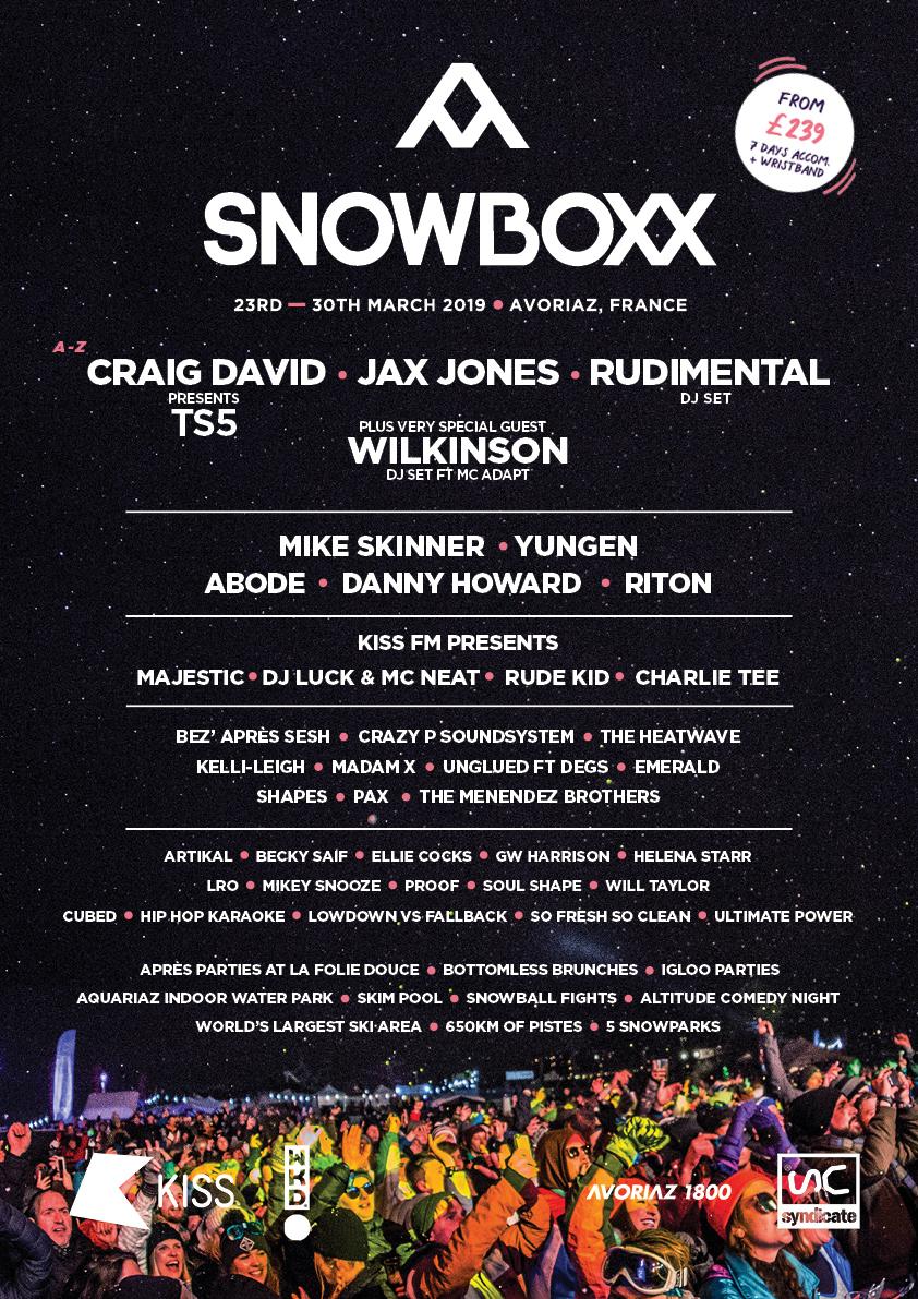 Snowboxx lineup poster