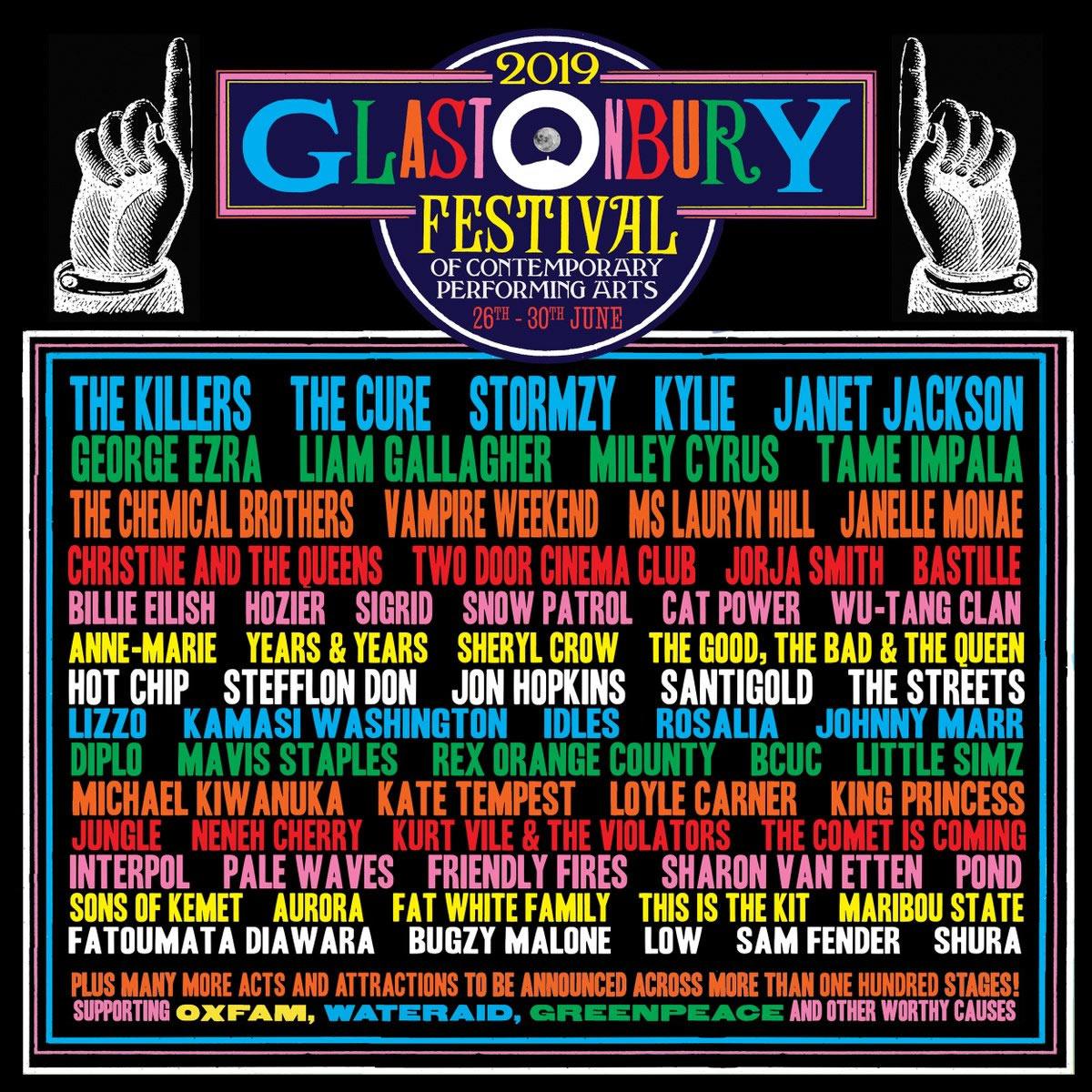 Glastonbury lineup poster